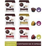 Nescafé Dolce Gusto Kit Degustazione di Caffè Espresso Napoli, Espresso Roma ed Espresso Milano, 6 Confezioni da 16 Capsule (