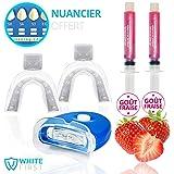 Kit blanchiment dentaire White First - Kit blanchissement dentaire avec 20ml de gel blanchiment parfum fraise