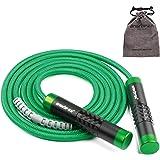 JJunLiM Springtouw, verzwaard, verstelbaar, crossfit, Speed Rope voor dames en heren, aluminium handvat en 9 mm dik touw, ide