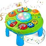 STOTOY Table D'apprentissage, Table d'activité Musicale pour les Tout-petits, 6 Mois + Table de Jeu Musicale pour Enfants, Jo