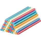 AGT Heißklebesticks: 50 Klebesticks für Heißklebepistolen, 11 x 200 mm, bunt (Allzweck-Klebesticks)