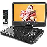 """WONNIE 2020 Upgrade 12.5"""" Lecteur DVD Portable avec écran Rotatif à 270°, Carte SD et Prise USB avec Charge directe…"""
