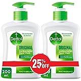 Dettol Original Anti-Bacterial Liquid Hand Wash 200ml Twin Pack At 25% Off