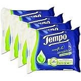 Tempo sanft und sensitiv feuchte Toilettentücher (mit natürlicher Aloe Vera) 4 x 42 Tücher (168 Tücher)