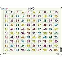 Larsen AR10 Apprendre à Compter: nombres de 1 à 100, Puzzle Cadre avec de 100 pièces