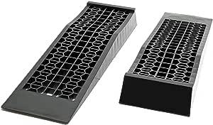 Extra Flache Pkw Plastik Auffahrrampen 1 Paar 3t Kunstoff Rampe Plattform Auffahrt Pkw Wohnmobil Auto
