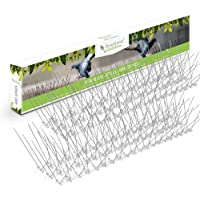 STAINLESS STEEL BIRD SPIKES - Durable Pigeon Repellent - Great Deterrent for Birds, Crows And Woodpeckers - Easy Setup And Removal - Keeps Pests Under Control - Covers 15ft / 3M