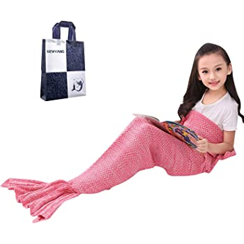 Sirène Couverture – Queue De Sirène Couverture Pour Enfants, Cadeaux pour Filles, Meilleur Choix Pour Cadeau De Fille, Cadeau De Noël, Cadeau D'anniversaire De Fille (Kid Rosa Pink)