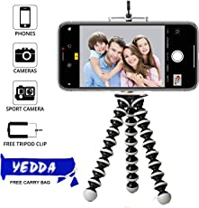 YEDDA Tripod Stand Holder, Mini Gorilla TRIPODS for Mobile DSLR Camera with Phone Attachment and Tripod Bag (10 inch Large)