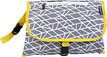 My Milestones Polyester Insta Diaper Changing System/Changing Pad (Grey Mosaic)