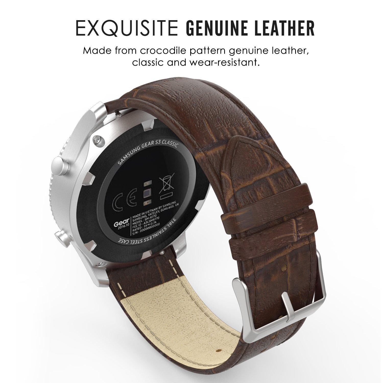 samsung gear s3 frontier armband echt krokodil. Black Bedroom Furniture Sets. Home Design Ideas