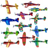 48 Planeadores Voladores de Aviones de Papel| Fácil de Montar, Resistente y Ligero| Avión Juguetes para Niños Cumpleaños, Pre