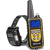 Meloive Collier de Dressage pour Chiens Rechargeable et IP67 Étanche avec Distance de 800m avec 99 Niveaux de Mode Vibration,