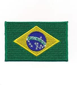 Hegibaer 80 X 50 Mm Brasilien Flagge Brasil Brasilia Flag Rio Aufnäher Aufbügler 0937 X Auto