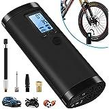 VEEAPE Compressore d'Aria Portatile con Batteria Ricaricabile 2000 mAh, Mini Pompa da Bicicletta elettrica, Multifunzione per