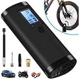 VEEAPE Compressore d'aria portatile con batteria ricaricabile 2000 mAh, mini pompa da bicicletta elettrica…