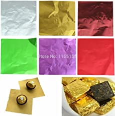 Amit Marketing Chocolate/Sweet Wraper Silver Foil Paper Pack Of 250Pc[Best In Class]