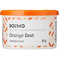Amazon Brand - Solimo Car Air Freshener - Orange Zest, 80 g