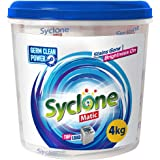 Syclone Matic Top LoadDetergent Powder for Washing Machine, 4Kg (with FREE Container worth Rs 129)