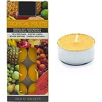 Besch Lot de 10 bougies chauffe-plat parfumées (Fruit exotique, 10 bougies)