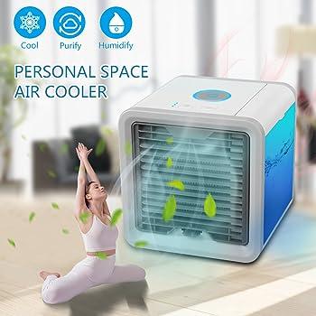 Condizionatore portatile 3in1 mini raffrescatore umidificatore purificatore d 39 aria senza freon - Conviene riscaldare casa con climatizzatore ...