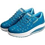 Zapatillas Casual para Mujer Zapatillas de Deporte Gimnasio Zapatos Cuña Cómodos Sneakers para Trotar Compras