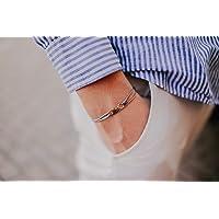 Dezentes Armband für Herren - edles Wickelarmband für Männer Minimalistisch - stufenlos verstellbar mit Karabiner-Haken…