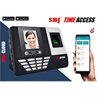 SBJ B10 Face Recognition 3000 Finger Print Capacity Bio-Metric Attendance Machine (Black)