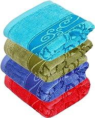 Sahiba Marvel Hand Towels 100% Egyption Cotton Size: 36x53cms 430GSM Set of 4Pcs
