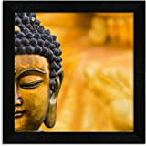 Home Attire Synthetic Religious Buddha Painting, Black, 30.48 cm x 30.48 cm x 3.04 cm