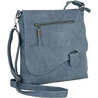 WILD THINGS ONLY !!! BAG STREET Damen Handtasche mit Riegel-Magnetverschluss und Reißverschluss | 4 Liter Volumen…