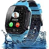 Smooce Kids Smartwatch Telefoon,Waterdicht Kids Smart horloge met LBS Tracker SOS Voice Chat en Camera Game voor 3-12 Jaar Ou