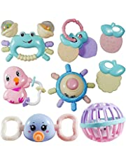 FunBlast Rattles and Teether for Babies - Colorful Silicon Non-Toxic BPA Free Rattles Teethers for Babies, Toddlers, Infants & Children