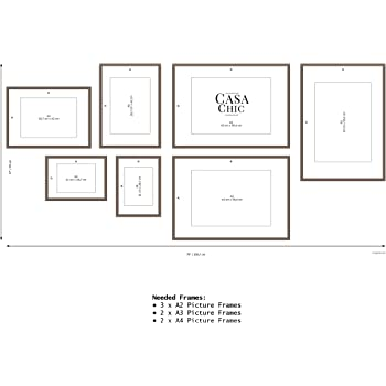 easy to use gallery wall template 79 inch x 37 inch 200 cm x 94 cm for different photo. Black Bedroom Furniture Sets. Home Design Ideas