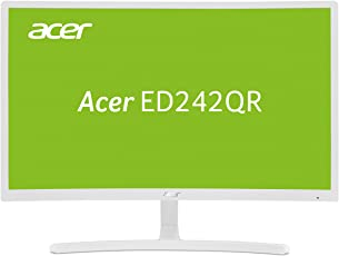 Acer ED242QR 60 cm (23,6 Zoll) Curved Monitor (VGA, HDMI, 4 ms Reaktionszeit, Full HD) weiß