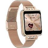 Geeky Horloges voor mannen en vrouwen, fitnesstracker, 1,3 inch display, stappenteller, hartslagmonitor, IP68 waterdicht, ges