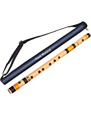 Foxit Professional Flutes C Sharp Medium Right Hand Bansuri Size 18 inches With Free Carry Cover
