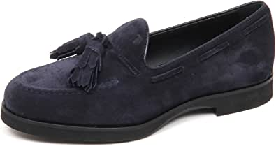 Tod's E4206 Mocassino Donna Blu Scarpe Nappine Suede Shoe Loafer Woman