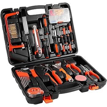 Mallette à Outils, 100 Kit Bricolage Coffret d outils Outils et Embouts de  Ménage 2f5f3bc1a73d