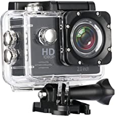 Biansh Sports Action Camera Video Camera Waterproof Digital Cam Car Dash Cam Full HD 1080P 12MP 25fps 30fps Helmet Mount Accessories Camera Kit 2 inch LCD Screen