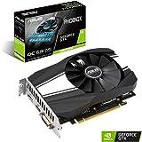 ASUS NVIDIA GeForce GTX 1660 Super Phoenix OC 6G Gaming Grafikkarte (6GB DDR6 Speicher, HDMI, DVI, DIsplayPort, PCIe 3.0, IP5X)
