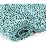 Bath Mat Rugs Anti-slip | Bathroom Mat | Chenille Bathroom Rug | Extra Soft and Absorbent Shaggy Rags | Non-slip Rubber | Mac