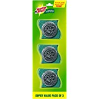 Scotch-Brite Stainless Steel Scrub - Pack of 3 with free 3 scrub pads Rs 30