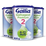 Laboratoire Gallia Galliagest 2ème âge, Lait en poudre pour bébé, Dès 6 Mois, 820g (Packx3)