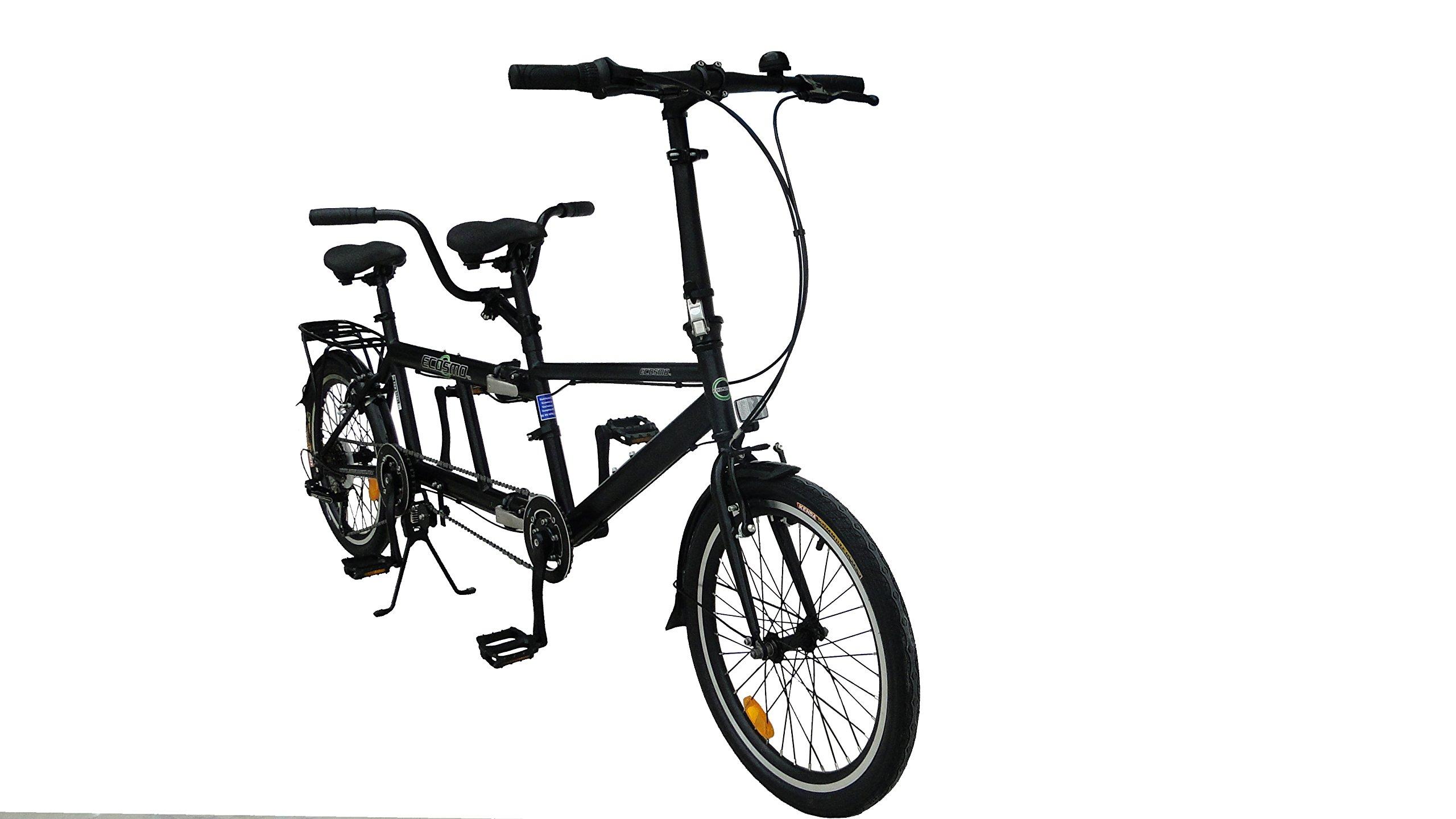 Ecosmo 5080 Cm 20 Bicicletta Pieghevole Da Città 7sp 20tf01bl Tandem