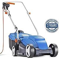 Hyundai HYM3200E Electric Lawnmower, 32cm Cut Width, 1000 W Corded, Lightweight, Lawn Mower, 240 V, Blue