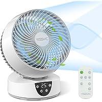 YISSVIC Ventilateur Silencieux avec Télécommande Ventilateur à Circulation d'Air 3D Oscillation 3 Vitesses Minuterie 9H…