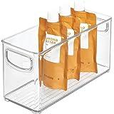 iDesign bac rangement frigo, petite boîte alimentaire spacieuse en plastique, boîte conservation alimentaire à poignées, tran