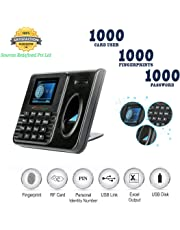 Realtime Biometric Attendance Machine with USB Excel (Black)