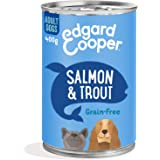Edgard & Cooper Comida Humeda Perros Adultos Natural Sin Cereales, Latas 6x400g Salmon y Trucha Frescos, Fácil de digerir, Al